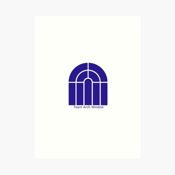 Team Arch Window Art Print