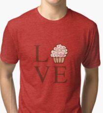 Fun Cute Love Cupcake  Tri-blend T-Shirt