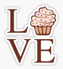 Fun Cute Love Cupcake  Sticker