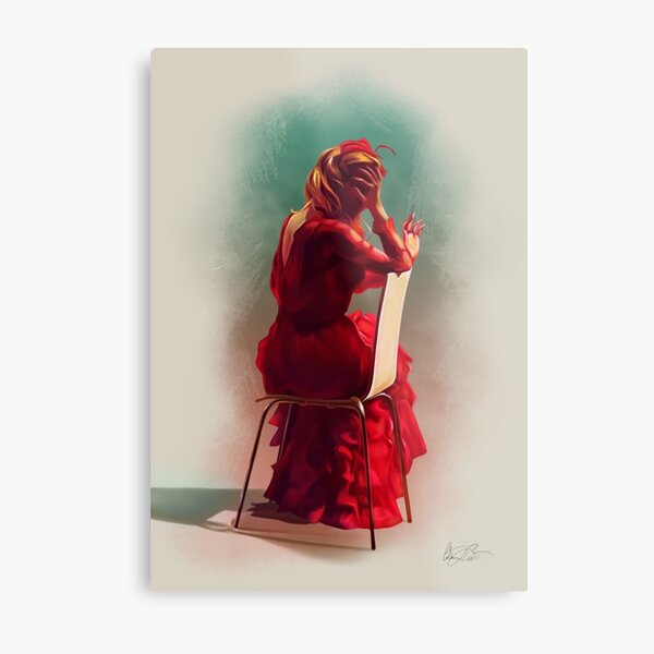 "Blanche Dubois n°4 ""Red"" Metal Print"