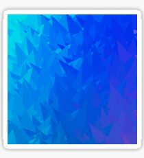 Abstract Blue Triangle Background. Modern Mosaic Pattern. Template Design for Banner, Poster Sticker