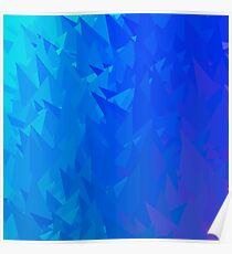 Abstract Blue Triangle Background. Modern Mosaic Pattern. Template Design for Banner, Poster Poster