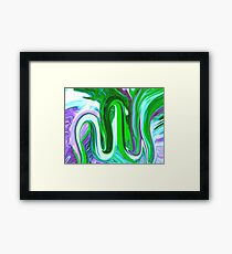 Allah Name calligraphy Painting Framed Print