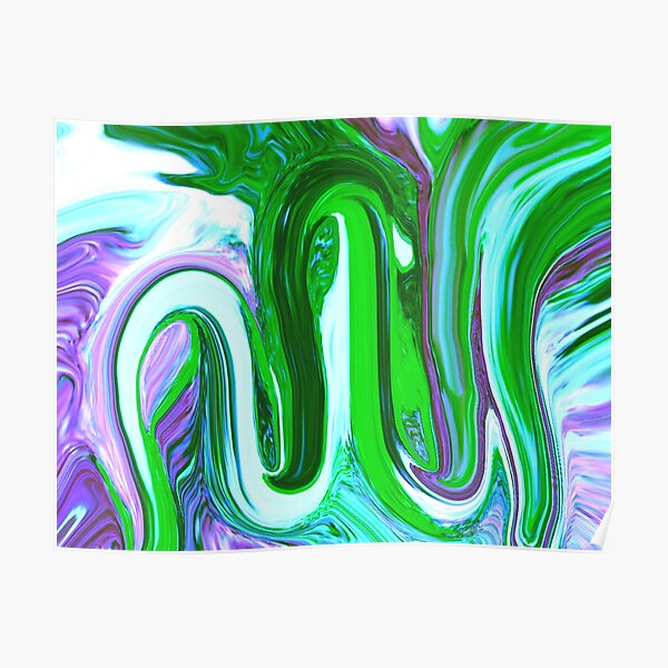 Allah Name calligraphy Painting Poster