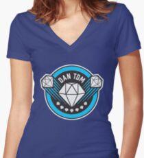 DANTDM!!! Women's Fitted V-Neck T-Shirt