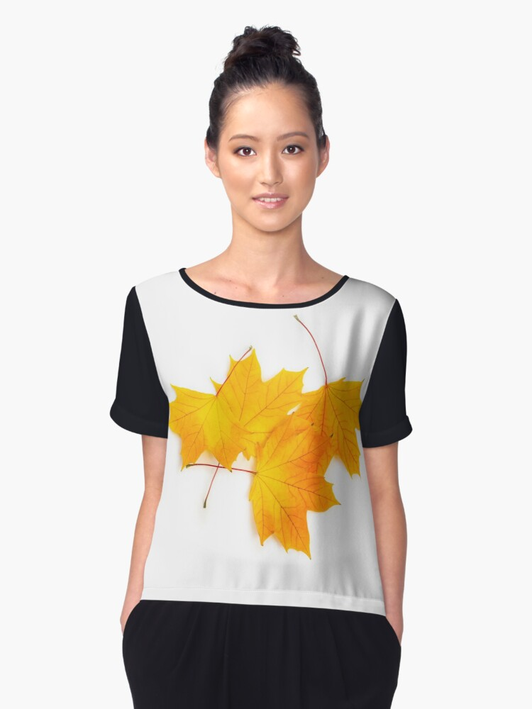 Maple leaves Women's Chiffon Top Front