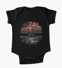 American Grown with Nicaraguan Roots One Piece - Short Sleeve