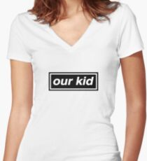 Our Kid - OASIS Spoof Women's Fitted V-Neck T-Shirt