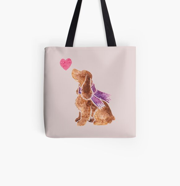 Watercolour spaniel All Over Print Tote Bag