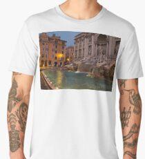 Rome's Fabulous Fountains - Trevi Fountain at Dawn Men's Premium T-Shirt