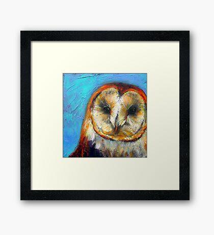Insight: Barn Owl Framed Print