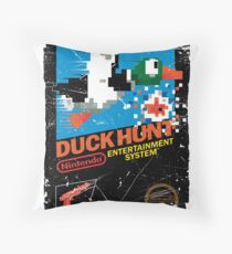 DUCK HUNT NES COVER  Throw Pillow