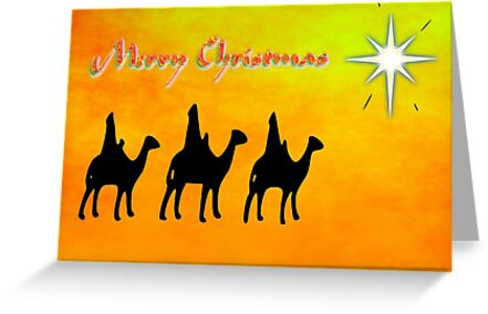 Merry Christmas from the Three Wise Men, greeting card by Dennis Melling