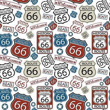 Route 66 USA Road Trip Travel Stamps by DV-LTD
