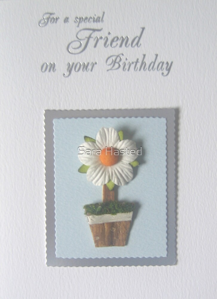 Special Friend Birthday Card by Sara Hasted