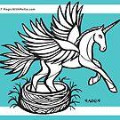 Robin's Egg Blue Uniquorn - #inktober 2017 unicorn illustration by mellierosetest
