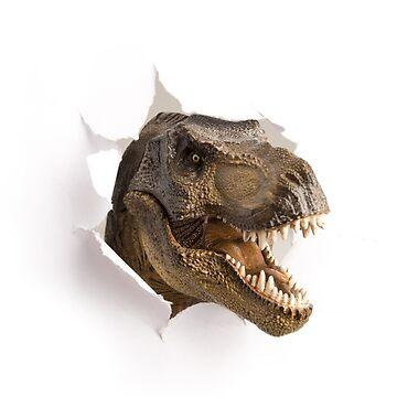T-Rex Dinosaur Funny Face by DV-LTD