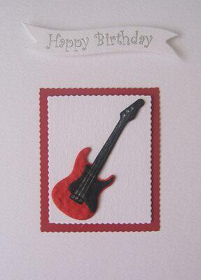 Guitar Birthday Card by Sara Hasted