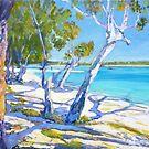 Bribie Beach Sunny Sunday by Virginia McGowan