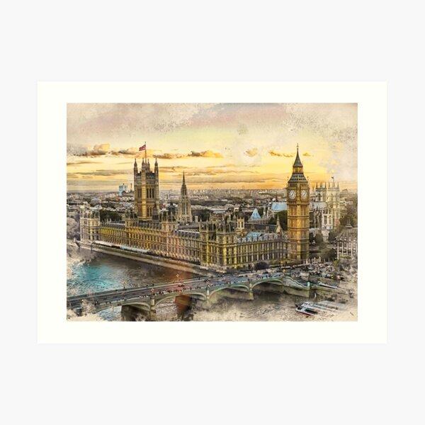 London city art 3 #london #city Art Print