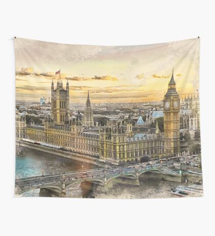 London city art 3 #london #city Wall Tapestry