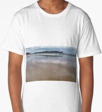Reflecting Sky on Beach Long T-Shirt