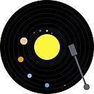 Solar System Vinyl Record (Minimal version) by jezkemp