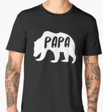 Mens Papa Bear T-Shirt Awesome Camping Father's Tee Men's Premium T-Shirt