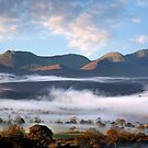 Valley of mist at Derwentwater - English Lake District by Martin Lawrence