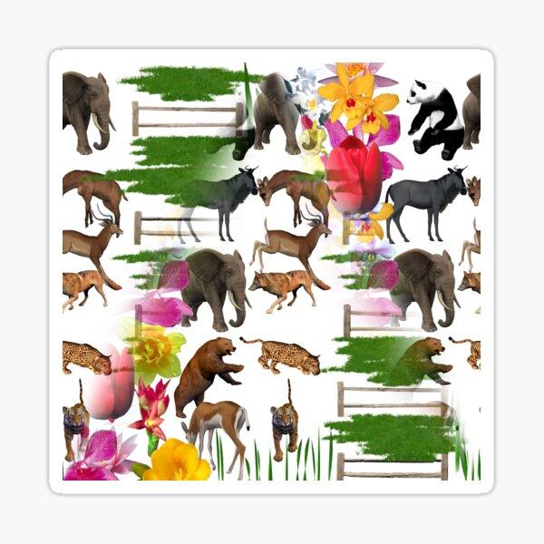 Zoo Animals Sticker