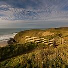 Golden hour at Watergate bay Cornwall by eddiej