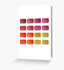 Set of Colorful Salvers Isolated on White Background Greeting Card