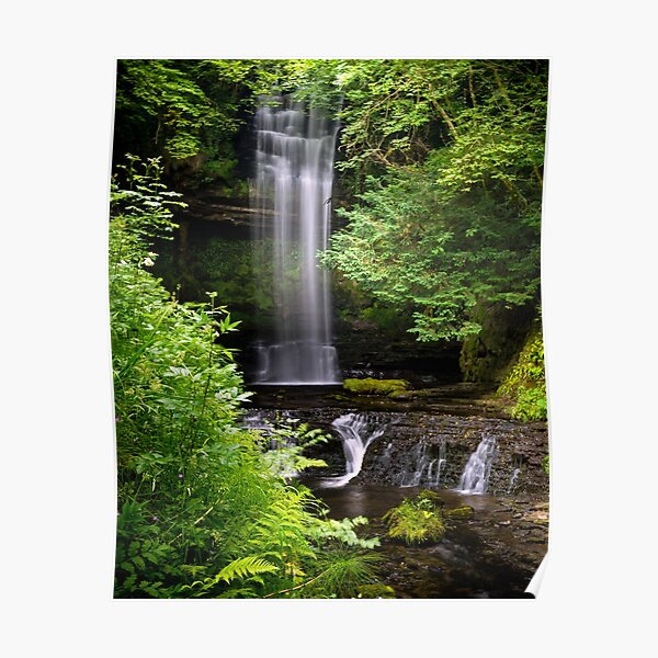 Glencar Waterfall Poster