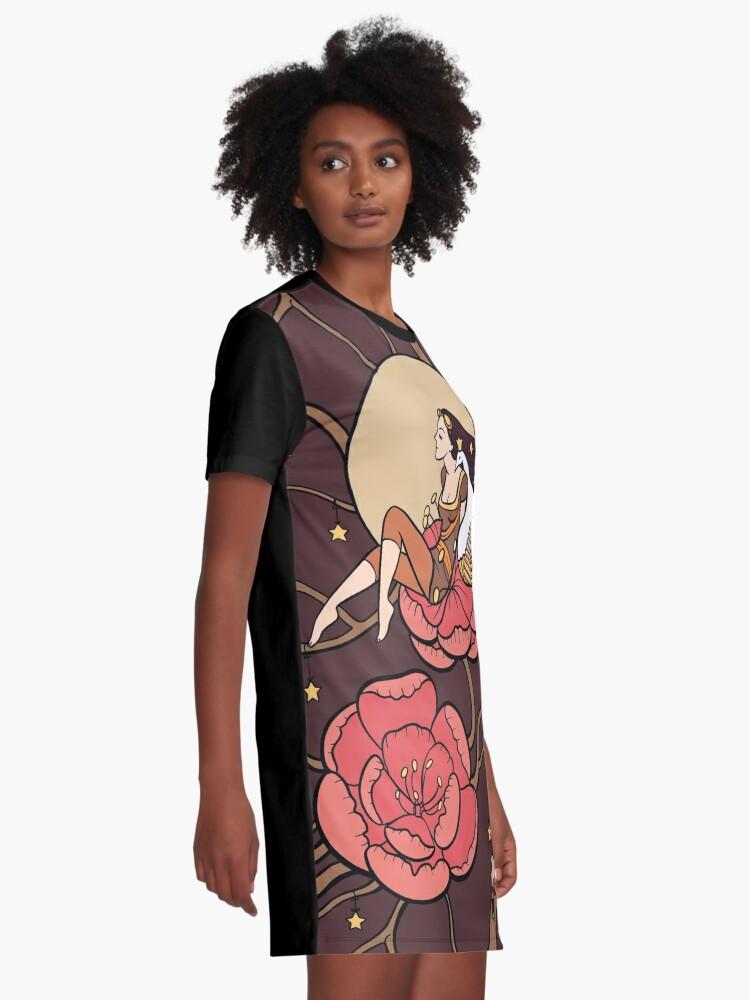 Alternate view of Botanical fantasy Graphic T-Shirt Dress