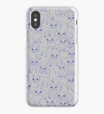 Hand Drawn Cute Frenchies Collage  iPhone Case/Skin