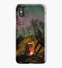 Aurora over a Sami Roundhouse iPhone Case/Skin
