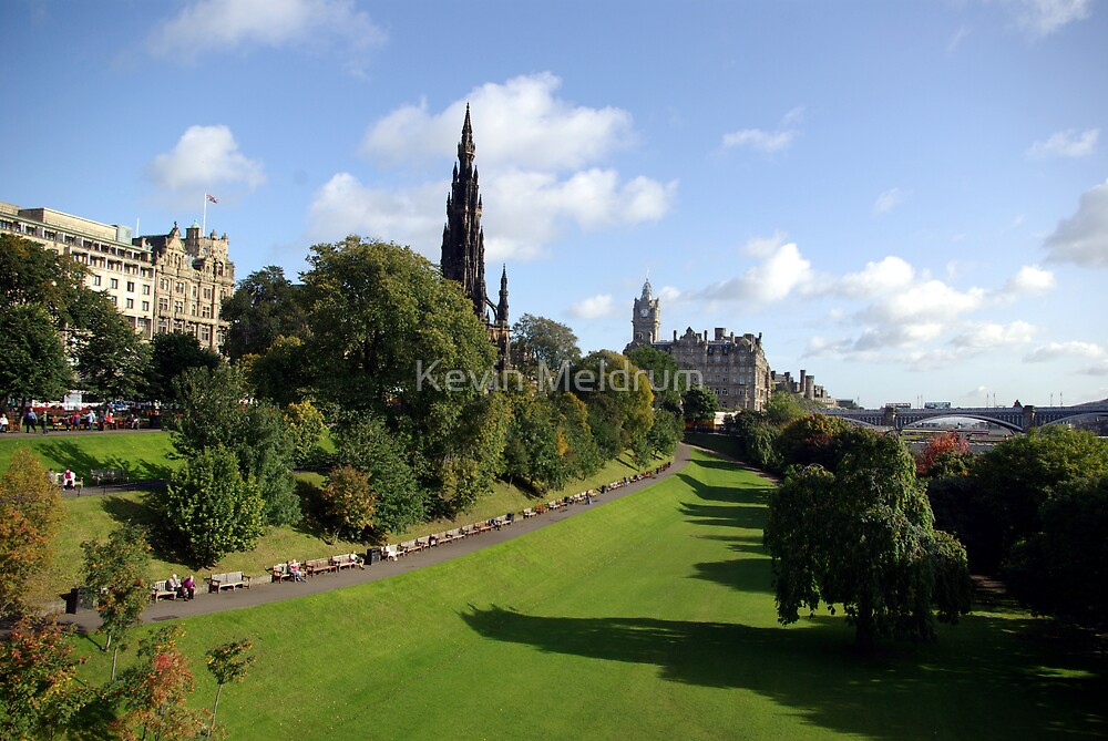 Edinburgh east gardens by Kevin Meldrum