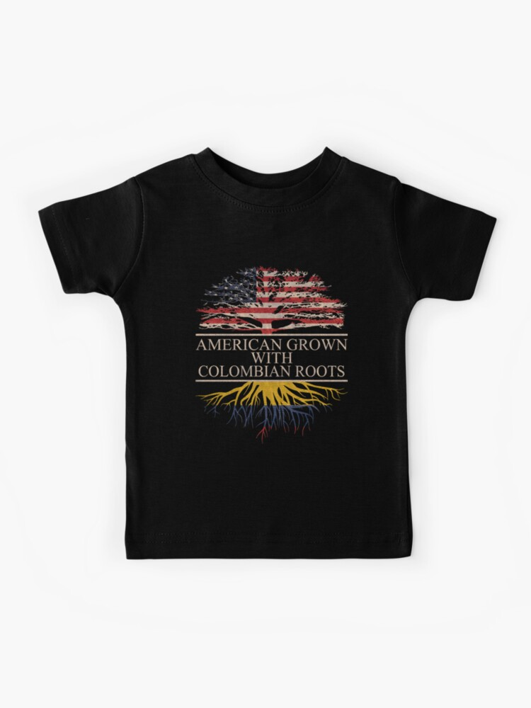 American Grown Colombia Roots,Midriff-Baring Graphic Print T-Shirt