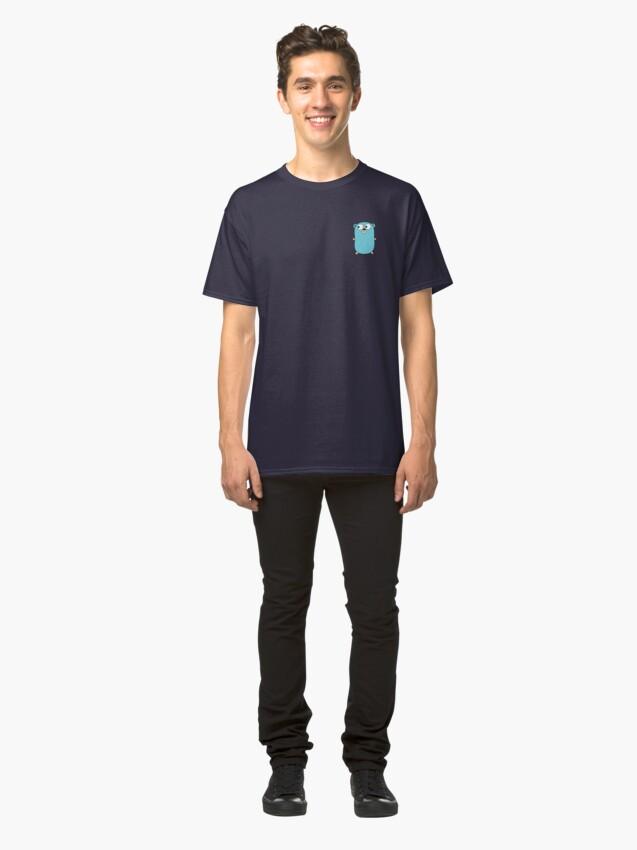 Vista alternativa de Camiseta clásica Golang