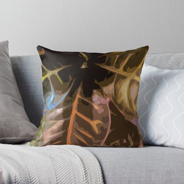 Codiaeum Throw Pillow