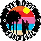 SURFING SAN DIEGO SURF CALIFORNIA SURFER'S PARADISE BEACH SURFBOARD 2 by MyHandmadeSigns