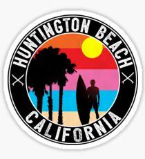 Surfing HUNTINGTON BEACH CALIFORNIA Surf Surfer Surfboard Waves Ocean 2 Sticker