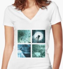 Dandelions Art pictures from Germany Women's Fitted V-Neck T-Shirt