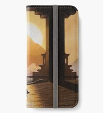 goldener Sand iPhone Flip-Case/Hülle/Skin