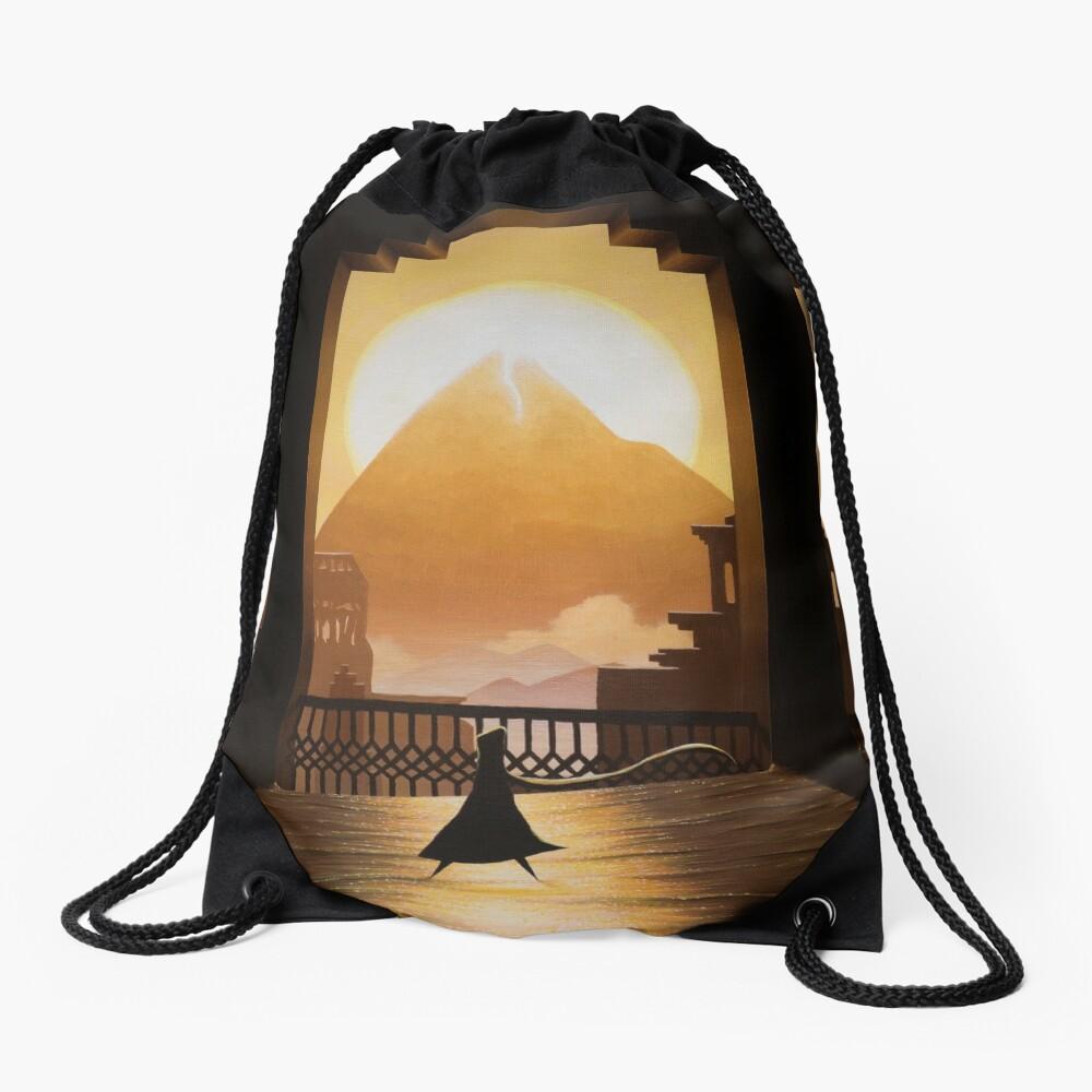 Golden Sands Drawstring Bag