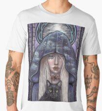 Nauthiz Rune Maiden black cat sorceress Men's Premium T-Shirt