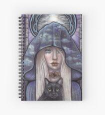 Nauthiz Rune Maiden black cat sorceress Spiral Notebook