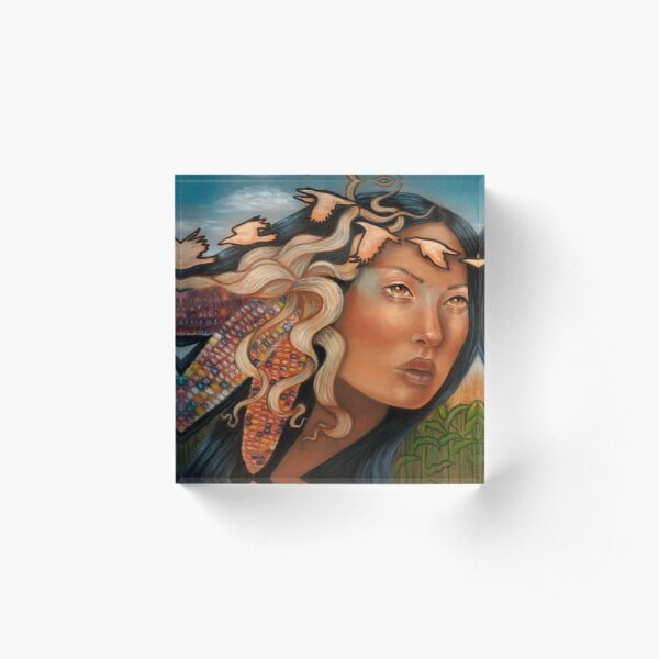 Selu Cherokee Native American Corn goddess Acrylic Block