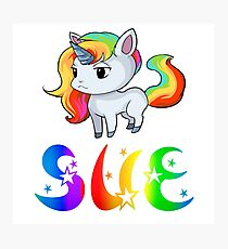 Sue Unicorn Sticker Photographic Print