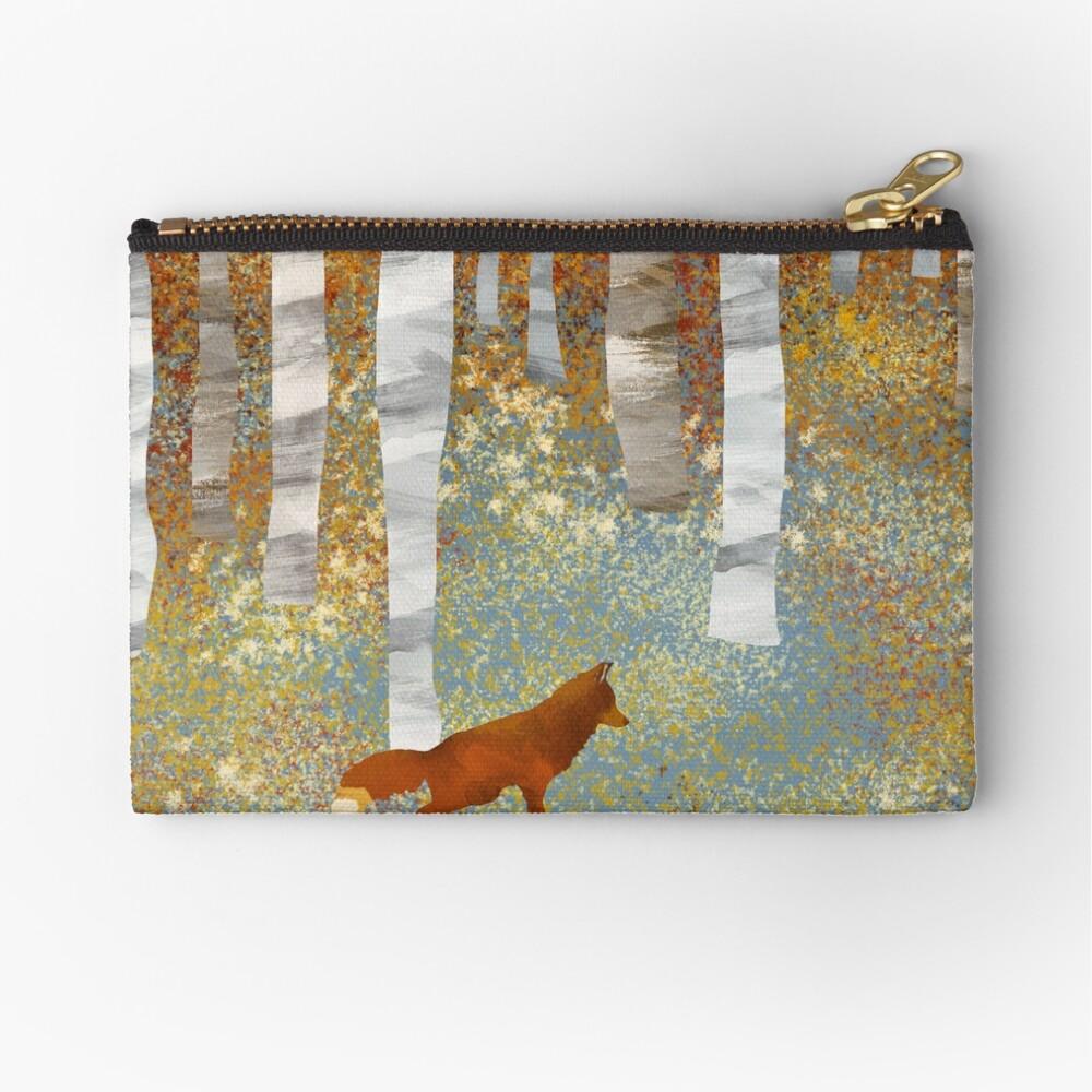 Autumn Fox Zipper Pouch